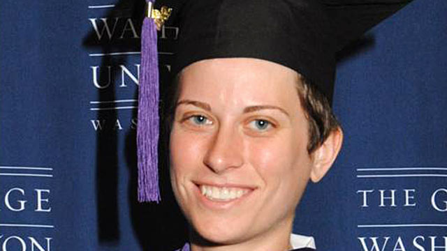 PHOTO: 25-year-old Samantha Ames just graduated from George Washington Law School.