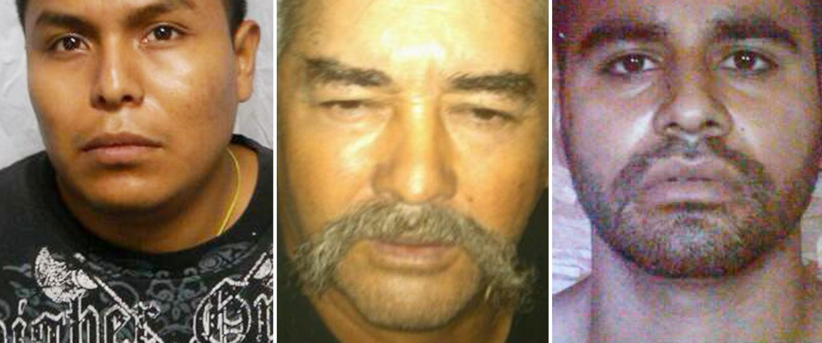 PHOTO: Luis Castro-Villeda, 22, Ruben Ceja-Renjal, 57, and Juan Manuel Fuentes-Morales, 26, were arrested by federal agents in connection with the rescue of a kidnapping victim believed to be a courier for a Mexican drug cartel.