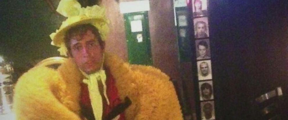"PHOTO: The Kansas City Police posted this image to Twitter on June 27, 2014 with the caption, ""We arrested a guy who stole birdish costume then wore it to a bar. Just another Thurs in #KC."""
