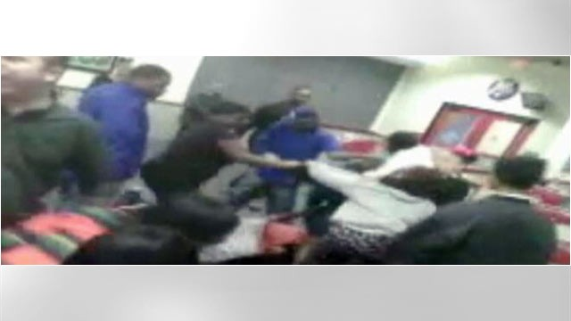 PHOTO: A fight captured on cell phone at a Beaumont Chuck E. Cheese.
