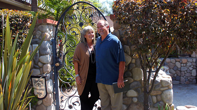 PHOTO: San Juan Capistrano, Calif. couple Chuck and Stephanie Fromm have been fined for holding weekly Bible studies in their home.