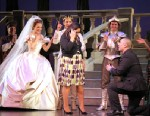 PHOTO: The Broadway cast of Cinderella host a wedding proposal by NYPD sergeant Alan Chau, on stage at the Broadway Theatre, Jan. 28, 2013.
