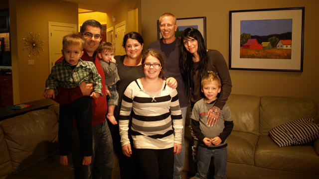 PHOTO: Pictured here are the Citrons (left and center) with their adopted son Bens birth mom Tammy Nelson, her fiance and son, Ryder.