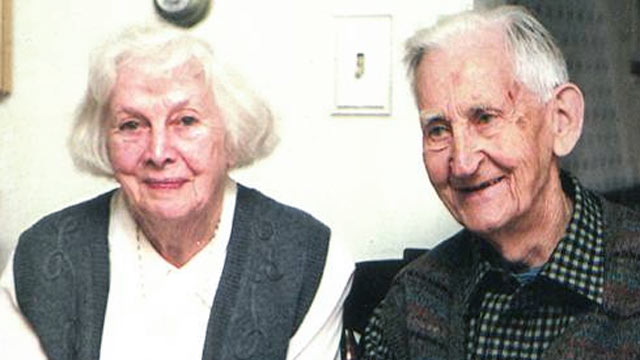 PHOTO: Grayce and Clarence Dwyer of Madison, N.J., have been married 75 years.
