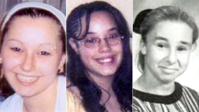 "PHOTO: Undated handout photos provided by the FBI show Amanda Berry, left, and Georgina ""Gina"" Dejesus, center. Michelle Knight's 1998 freshman year high school picture, right, at James Ford Rhodes High School in Cleveland, Ohio."