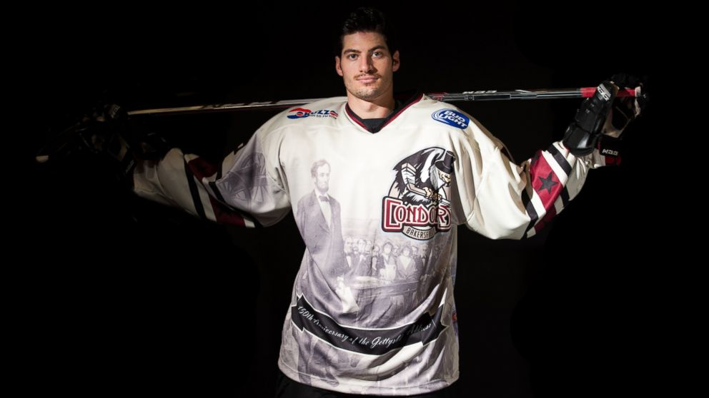 PHOTO: The Condors played in special jerseys to commemorate the 150th anniversary of the Gettysburg address