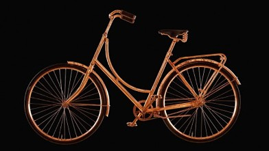 PHOTO: Copper bicycle