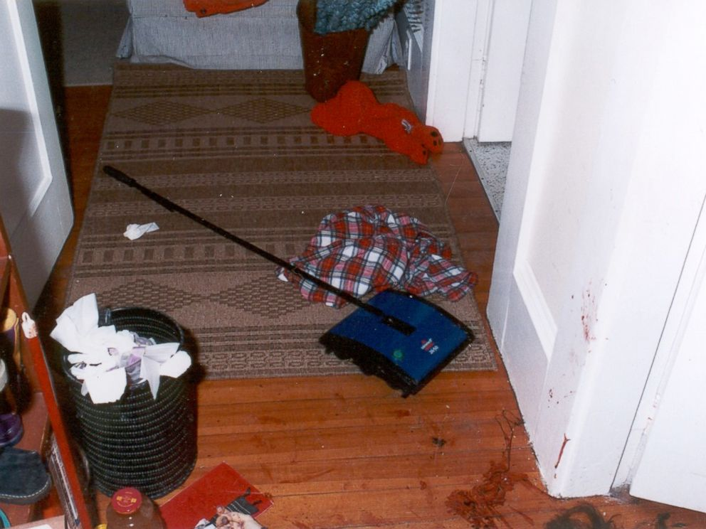 Crime scene photo from inside Christa Worthingtons home.