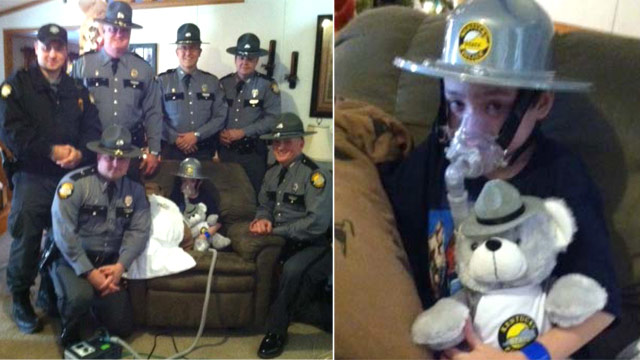PHOTO: Post 9 troopers visit Dalton Dingus at his home in Mago