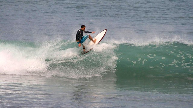 PHOTO: 32-year-old Daniel Bobis, went missing in Indonesia after wiping out surfing a 10 foot wave.