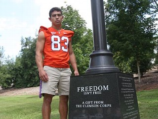 Army Vet Playing Football for Clemson This Fall