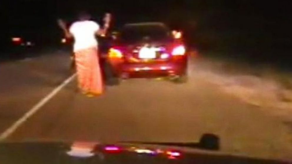 PHOTO: Newly-released video shows officers in Forney, Texas pulling over Kametra Barbour, who had done nothing wrong on Aug. 9, 2014.