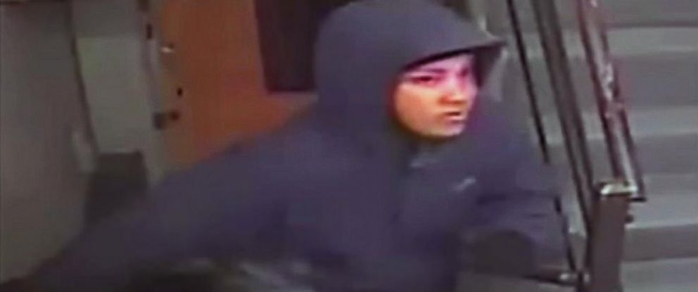 PHOTO: Police released surveillance footage showing a person of interest in the stabbing death of David Messerschmitt.