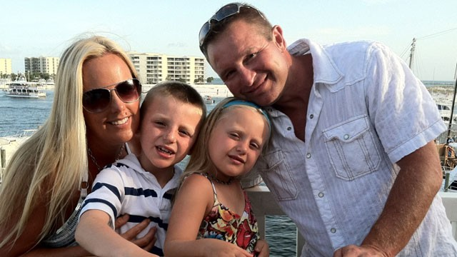 PHOTO: Parents Joe and Stephanie Decker are shown here with their children Dominic and Reese. When a tornado slammed into their home, Stephanie Decker shielded her children with her own body and lost her legs.