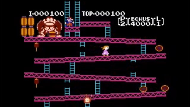 PHOTO: Mike Mika hacked Nintendos Donkey Kong video game for his 3-year-old daughter, switching the roles so Pauline rescues the Mario.