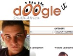 PHOTO: Google is threatening to sue Doogle website owner Andries Maree Van Der Merwe for copyright infringement because its name and logo are too similar to the popular search engines.