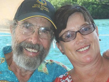 PHOTO: Doug and Sylvia Nash pictured in the south Pacific in 2008.