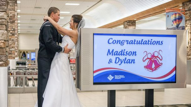 ht dylan ruff madison meinhardt ll 131119 16x9 608 Sailor Rushes to Reno Airport for Baggage Claim Wedding
