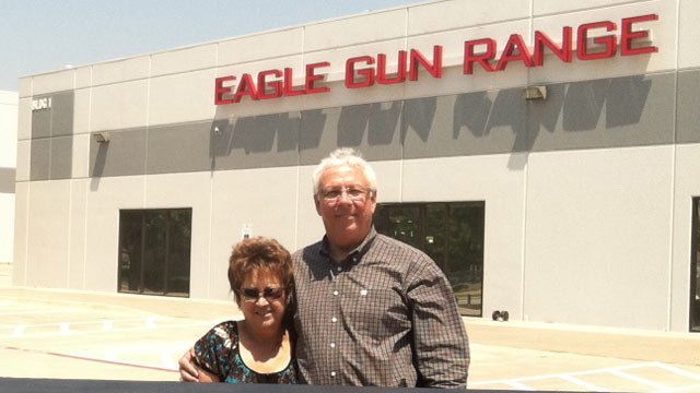 PHOTO: Nanci and David Prince, pictured, are the owners of the Eagle Gun Range in Lewisville, Tex. The gun range is set to open at the end of summer 2012.