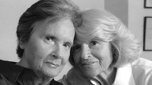 "PHOTO: Seen here is Edith ""Edie"" Windsor, left, and  Thea Spye in a file photo. Windsor commented on the filing by the law firm of King & Spalding seeking to formally intervene in her pending lawsuit defending the Defense of Marriage Act (DOMA)."