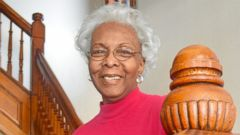 PHOTO: Charlesetta Taylor, 79, is pictured inside her three-story red brick home in St. Louis, Mo.