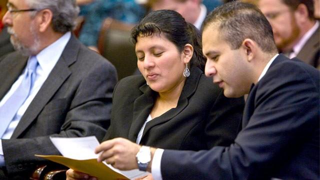 PHOTO: Encarnacion Bail Romero and attorney