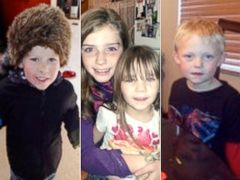PHOTO: From left, Evan, Shelby Fitzpatrick and Chloe Glanton, and Tate McIntee are shown in these undated photos.