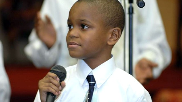 PHOTO: Ezekiel Stoddard, 11, was ordained last month and currently minsters in churches across Maryland, including his parents' church.