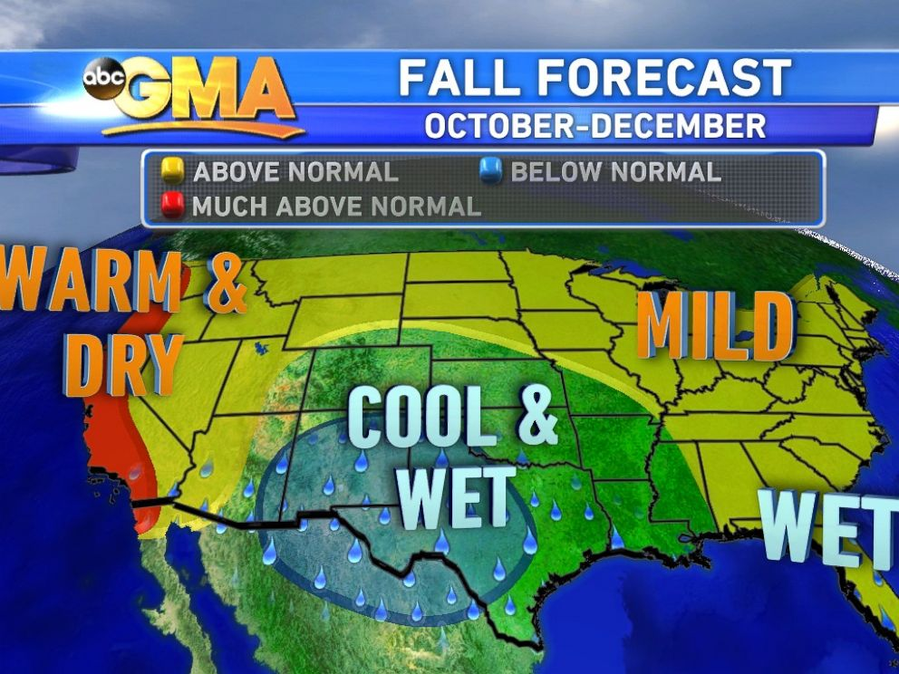 Heres Your EyePopping LeafPeeping Fall Foliage Forecast ABC News - Fall foliage map us 2016