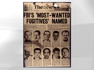 PHOTO  The FBI's ?Top Ten? list turns 60 this week, and in that time some 493 other fugitives have found their names counted among the worst of the worst.