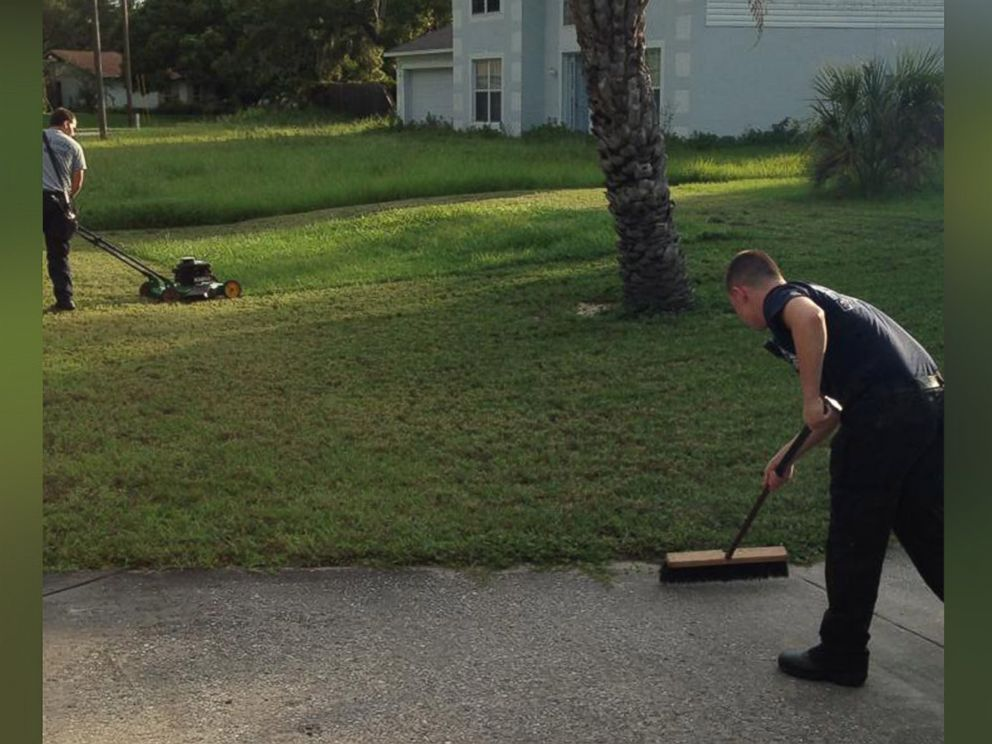 PHOTO: Hernando County, Florida, firefighters were photographed helping finish mowing the lawn of a man who suffered a heart attack.