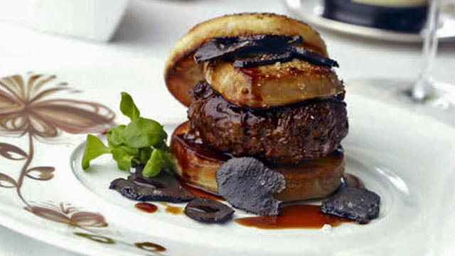 PHOTO: The Fleur Burger 5000, served at Fleur by Hubert Keller at Mandalay Bay Resort & Casino, comes with a hefty price tag of $5,000.