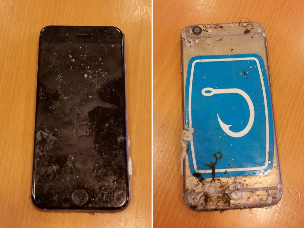 PHOTO: Blu Stephanos released these images of the recovered phone that he says belonged to his son, Austin Stephanos.