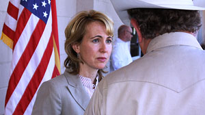 PHOTO Who Is Arizona Congresswoman Gabrielle Giffords? Political Centrist Likes Motorcycles, Is Married to an Astronaut