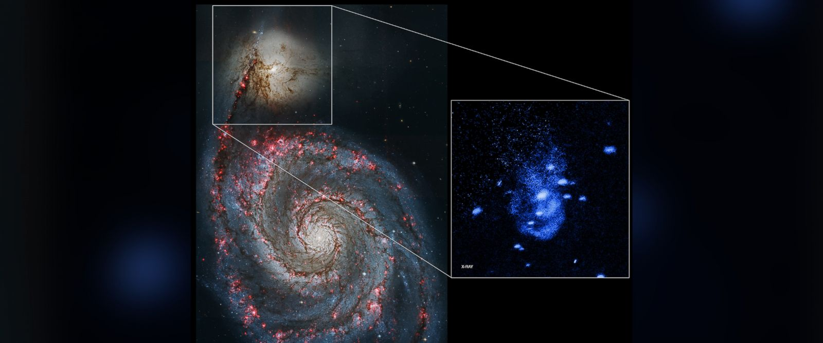 PHOTO: Astronomers have used NASA's Chandra X-ray Observatory to discover one of the nearest supermassive black holes that is currently undergoing powerful outbursts.