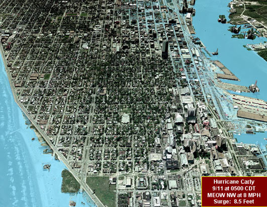 Potential Flooding in Galveston