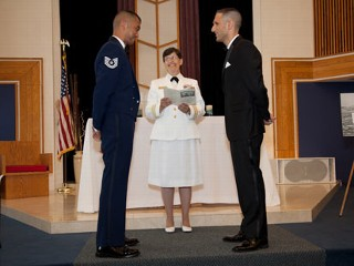 First Same-Sex Wedding Held on Military Base