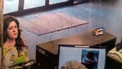 PHOTO: Police are looking for a person caught on camera, who allegedly robbed a bank in Stuart, Iowa.