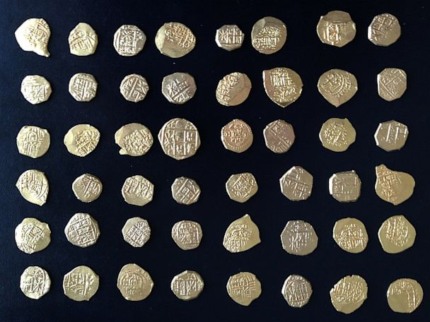 ht gold coins 300 years old found treasure chest thg 130715 4x3 608 Treasure Hunters Find Gold Coin Trove Off Florida