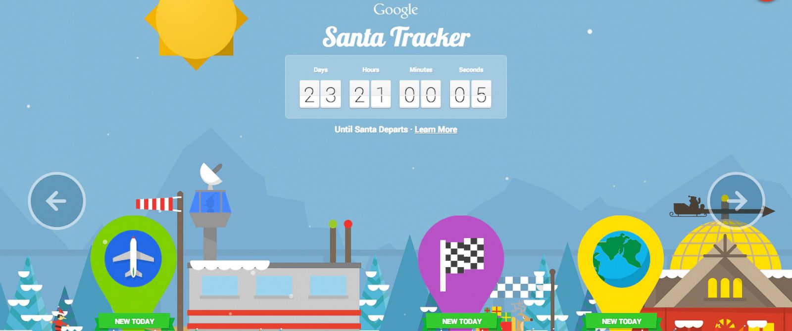 PHOTO: An image of the Google Santa Tracker was posted to the official Google Blog on Dec. 1, 2014.