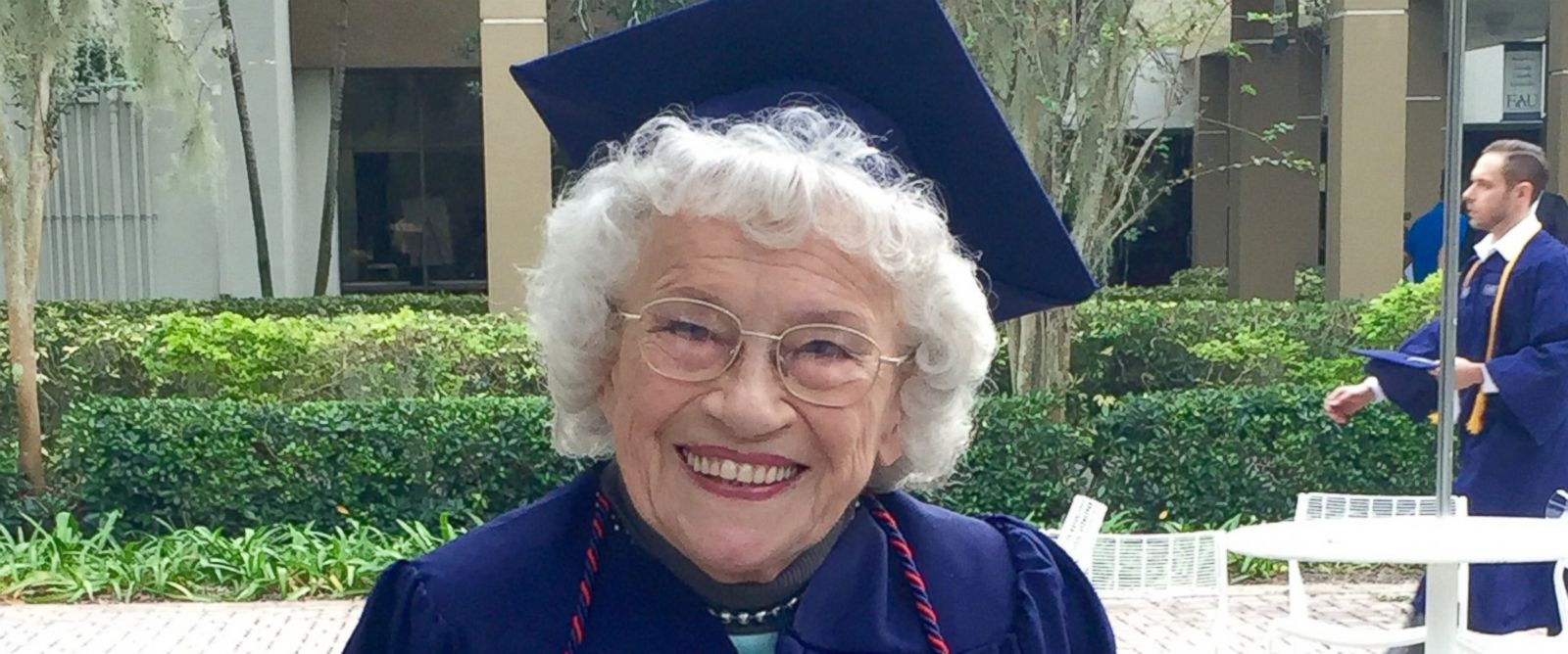 PHOTO: Betty Reilly, 89, is one of the oldest undergraduates to receive a bachelors degree from Florida Atlantic University.