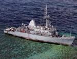 PHOTO: The mine countermeasures ship USS Guardian (MCM 5) sits aground on the Tubbataha Reef, Jan. 22, 2013.