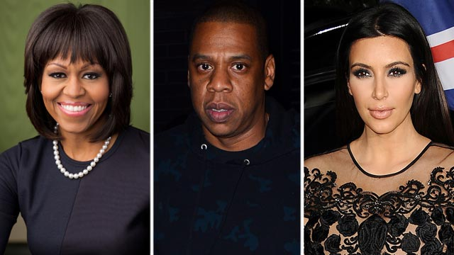 PHOTO: The personal information of several celebrities have been recently hacked, among them Michelle Obama, Jay-Z, and Kim Kardashian.