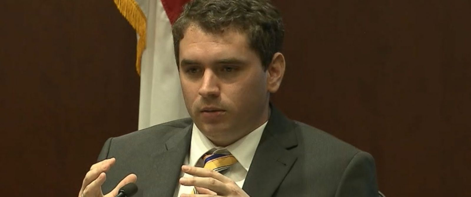 PHOTO: Nation Hahn testified in a North Carolina courtroom in the murder trial of his former friend Jonathan Broyhill, March 10, 2015.