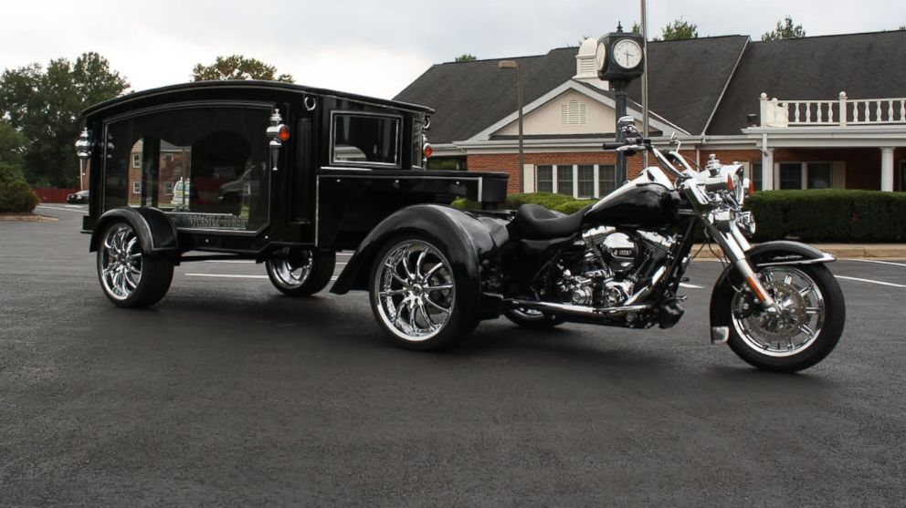 Funeral Homes New Harley Hearse Is A Hit