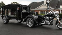 PHOTO: The new Harley Davidson hearse available at funeral homes in Virginia.