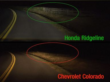PHOTO: A new study by the Insurance Institute for Highway Safety found that most pickup trucks have poor headlights.