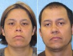 PHOTO: Maria Zuniga, left, and Hector Cupich Quinones are shown in their booking photos.