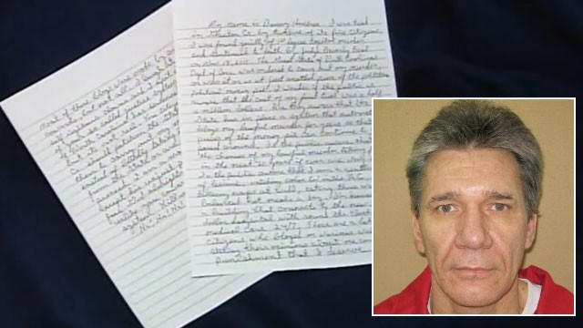 PHOTO: A North Carolina inmate has written a taunting letter, (pictured), to his hometown newspaper describing his life. Danny Hembree, inset, is seen in this undated file photo.