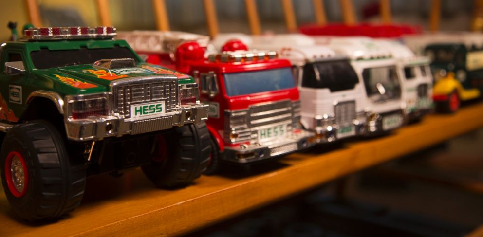 PHOTO: A few of Thomas Cooks Hess Toy Trucks.